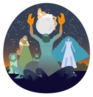 Los 4 titanes de la mitología griega