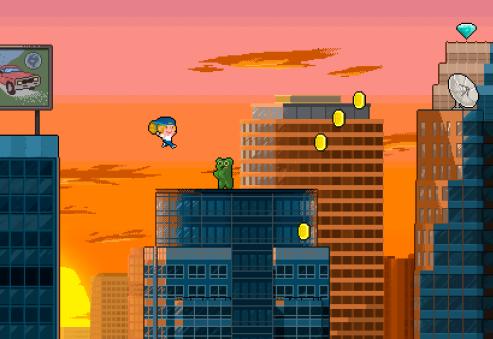 Montaje del juego en mitad del primer nivel.