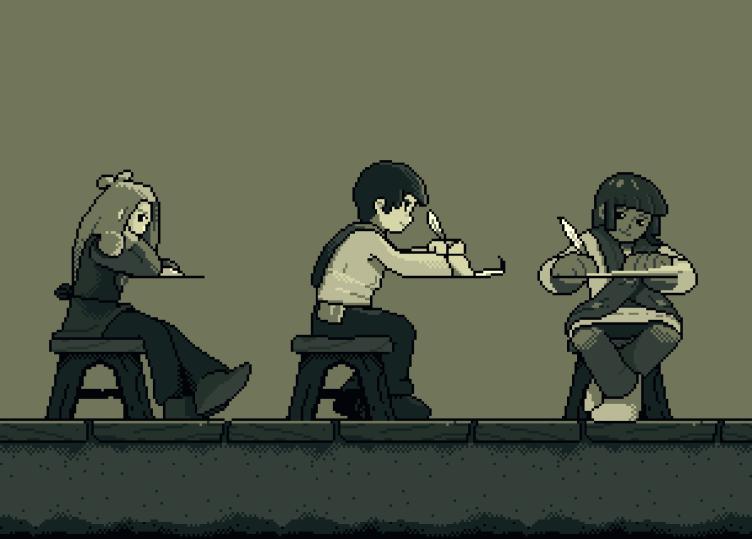 El juego contará con muchos personajes (estudiantes y profesores) estudiando, escribiendo, etc, en la bibliotecas.