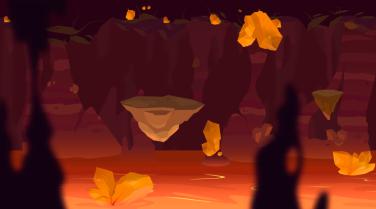 Muestra de un nivel montado con elementos del pack para el Unity store.