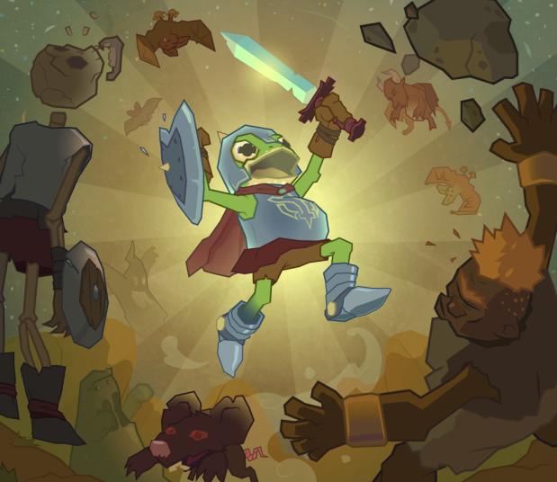 Imagen principal del videojuego ODDHERO. Composición circular a contraluz para darle heroicidad al personaje principal.