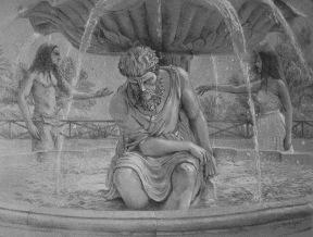Escultura y pareja