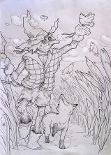 espantapájaros y zorro 2